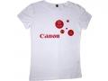 """Футболка с логотипом """"Canon"""" белая"""