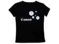 "Футболка с логотипом""Canon"" черная"