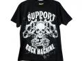 "Печать логотипа на футболке ""Support Rock Machine"""